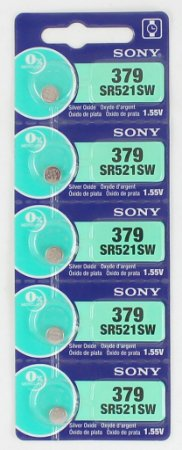 BATERIA 379/SR521SW-cartela c/5 pçs