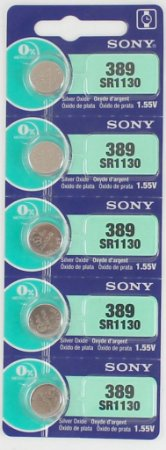 BATERIA 389/390/SR1130-cartela c/5 pçs   SONY,MURATA, MAXELL OU ENERGIZER