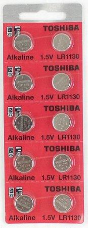 BATERIA LR 1130-cartela c/10 pçscod:756  toshiba ou maxell