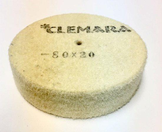 RODA DE FELTRO CLEMARA 80 X 20MM  cod:99