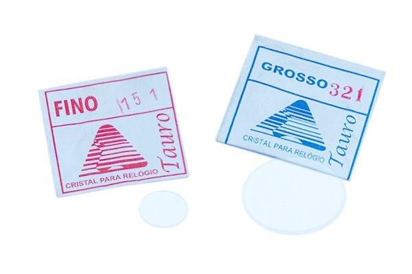 Vidro de cristal fino/grosso para relógio pacote c/ 10pçs