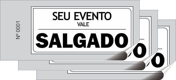 Talões Tickets - 05x10 cm (Cerveja, Refrigerante, Espeto, Salgado, Calabresa, etc)