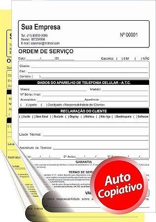 TALÃO AUTOCOPIATIVO    10x15 cm – 2 vias  (Comandas, Orçamentos, Pedidos,etc)