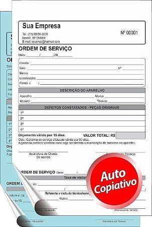 TALÃO AUTOCOPIATIVO    15x20 cm – 2 vias  (Comandas, Orçamentos, Pedidos,etc)