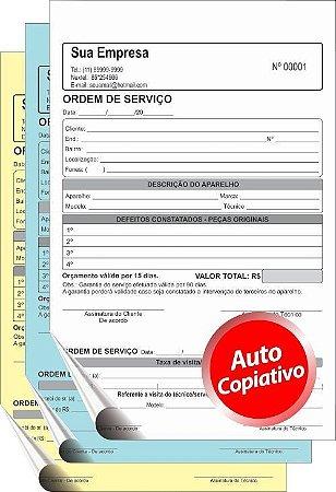 TALÃO AUTOCOPIATIVO    15x20 cm – 3 vias  (Comandas, Orçamentos, Pedidos,etc)