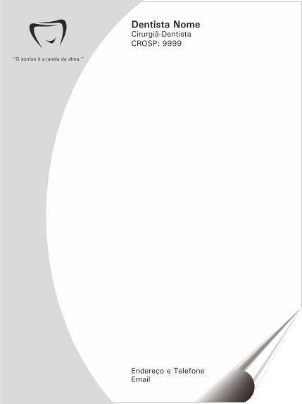 RECEITUÁRIO 20x30 cm - 1 via (Médicos, Hospitais, Dentistas, Clínicas, etc)
