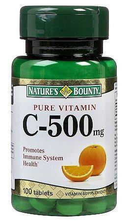 Vitamina C Pura e Concentrada 500mg - Fórmula Potente Importada