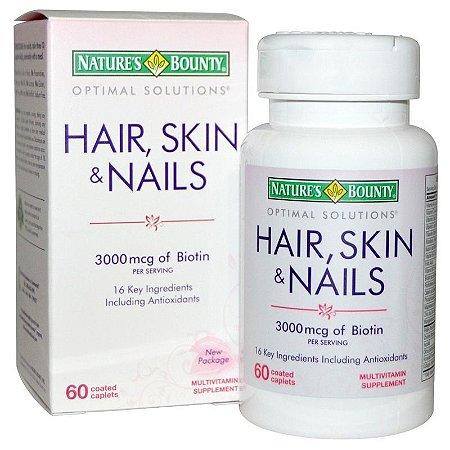 Hair, Skin & Nails - Nature's Bounty para Tratamento de Cabelo, Pele e Unhas