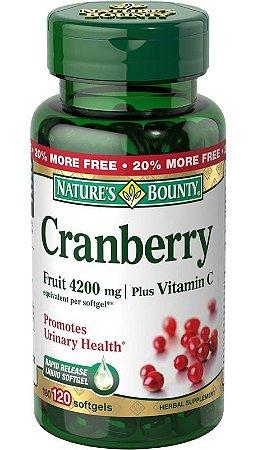 Cranberry Importado Concentrado 4200mg - 120 cápsulas