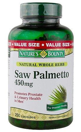 Saw Palmetto Extrato 450mg Importado - Promove Saúde da Próstata