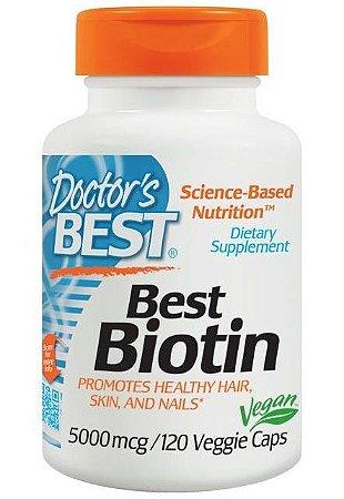 Biotina Pura Concentrada 5000mcg Importada em Cápsulas Doctor's Best