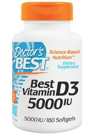 Vitamina D3 Importada 180 cápsulas 5000iu Concentrada