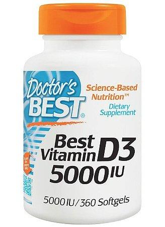Vitamina D3 Importada 360 cápsulas 5000iu Concentrada