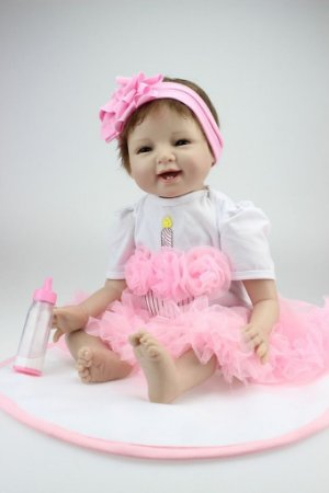 Linda Bebe Reborn Lacinho Jéssica 55cm