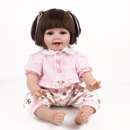 Menina Sorriso Bebê Reborn em Silicone Presente de Aniversário