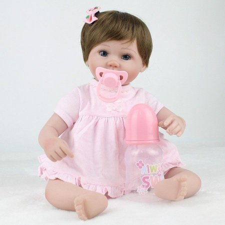 Boneca Bebe Reborn Paty Rosinha com Lacinho