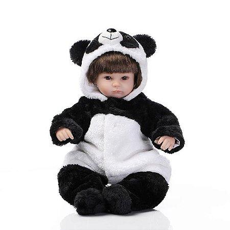 Bebe Reborn 40cm Ursinho Panda