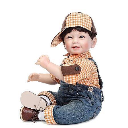 Menino Infantil Reborn Realista