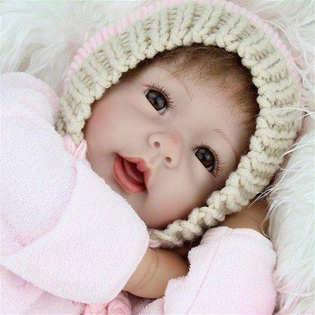 Bebe Reborn Gorrinho Rosa Rafinha