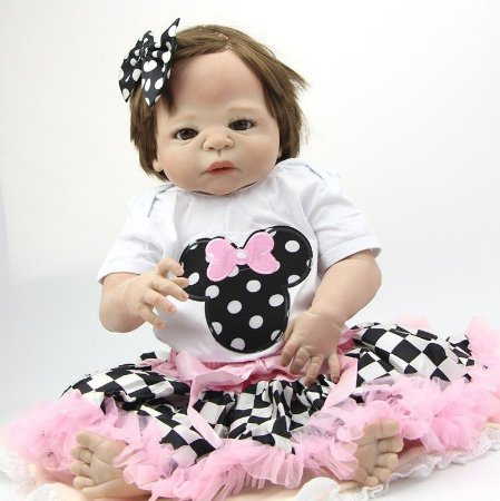 Bebe Reborn Menina Princesa em Silicone