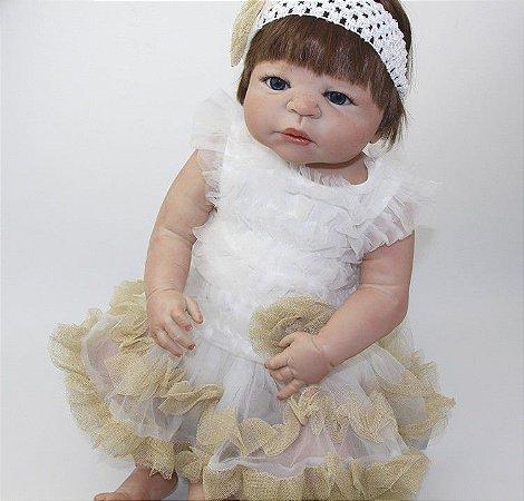 Bebe Reborn Alice de vestido 57cm