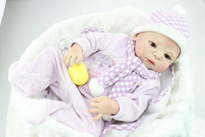 Bebe Reborn Valentine 58 Cm em Silicone