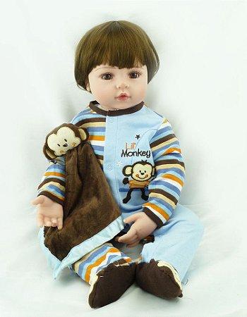 Bebe Reborn Menino Kelvin com 55 cm