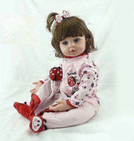 Bebe Reborn Princesinha Lily com 55CM