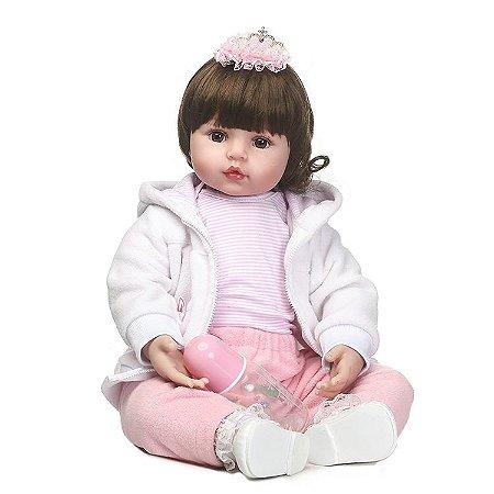 Bebe Reborn Malu com 55Cm - Pronta Entrega