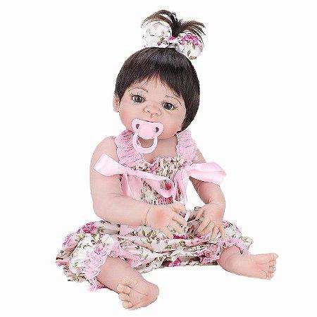 Ellen Nova Bebe Reborn Corpo Inteiro De Silicone - Pronta Entrega