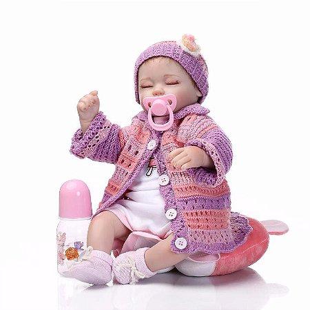 Boneca Bebê Reborn Wendy com Jaquetinha