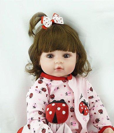Bebe Reborn Princesinha Lily com 55CM - Pronta Entrega