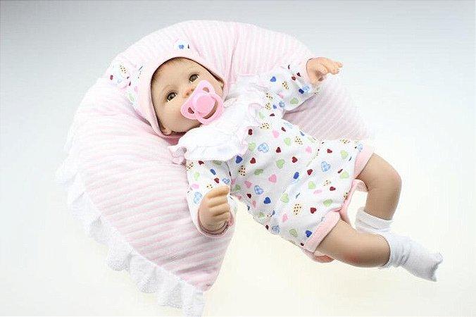 Bebe Reborn Maysa com Travesseiro - Pronta Entrega