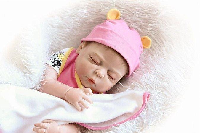 Bebe Reborn Ester Inteira em Silicone