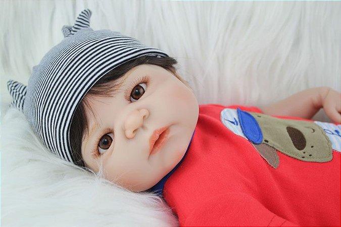 Bebe Reborn Heitor com 55cm Inteiro em Silicone