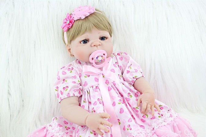 Bebe Reborn Juliete Inteira em Silicone - Novidade 2017