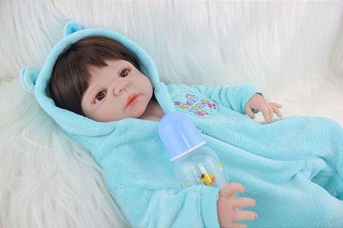 Bebe Reborn Paulo Inteiro em Silicone com 55cm - Exclusivo