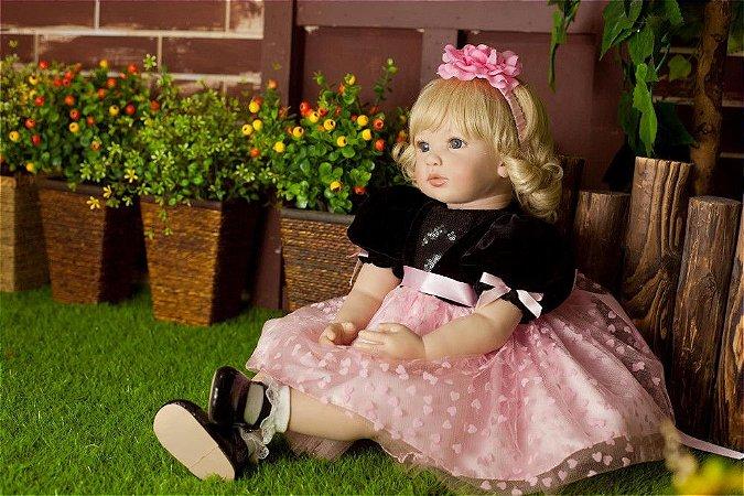Bebe Reborn Adele 2018 com 60cm - Exclusiva 55cm Só na Loja da Bebe Reborn!
