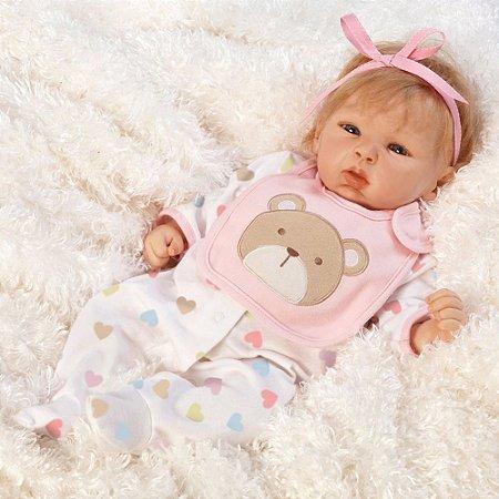 Boneca Reborn Happy Teddy Paradise Galleries com Acessórios