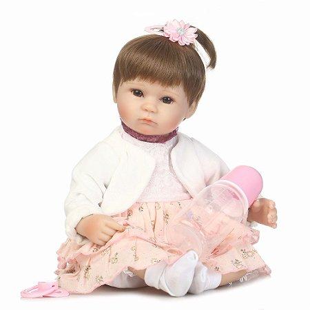 Bebe Reborn Emilly 40cm - Pronta Entrega