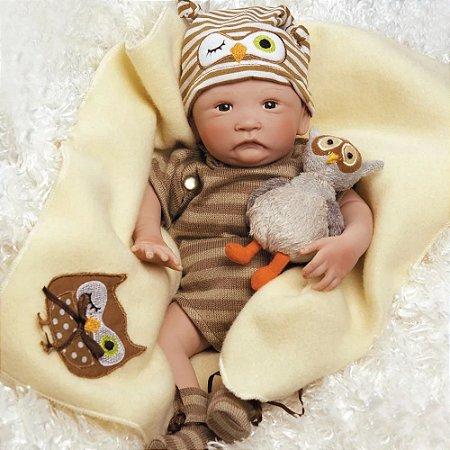 Bebê Reborn Hoot! Hoot! 44cm - Paradise Galleries