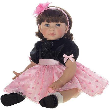 Boneca Bebe Reborn Realista Laura Doll Meg, 50cm - Pronta Entrega!
