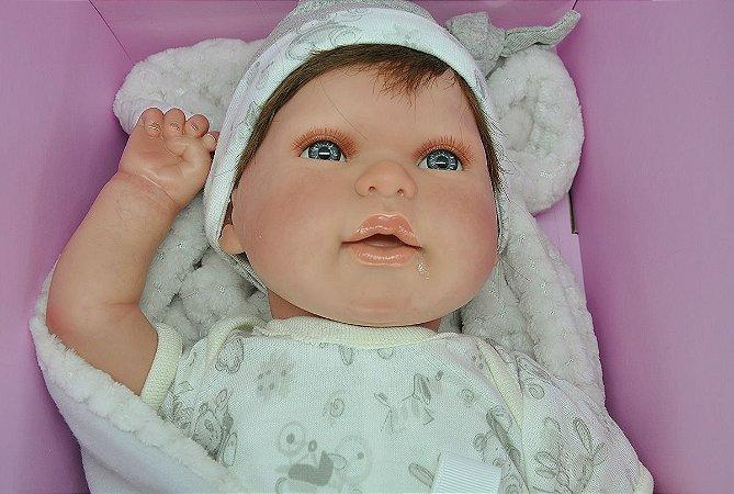 Boneco Bebe Reborn Thomas Realista com Cabelo