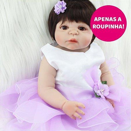 Vestido para Bebê Reborn 55cm - Somente a Roupinha!