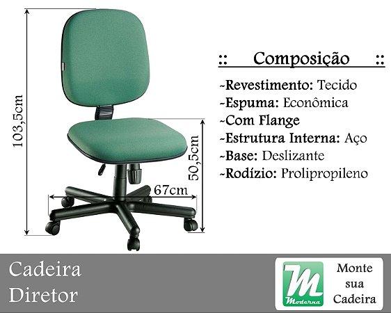 Cadeira Diretor Deslizante c/ Base Aço
