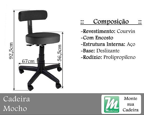 Cadeira Mocho Courvin c/ Base Aço