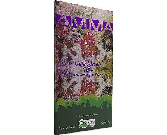 Chocolate Orgânico Gula Merah 70% Cacau 80g - Amma Chocolate