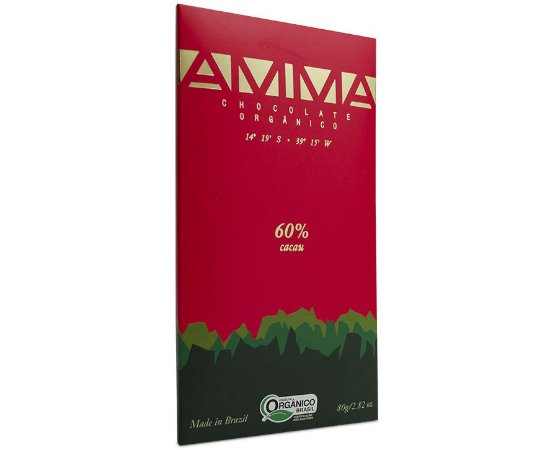 Chocolate Orgânico 60% Cacau 80g - Amma Chocolate