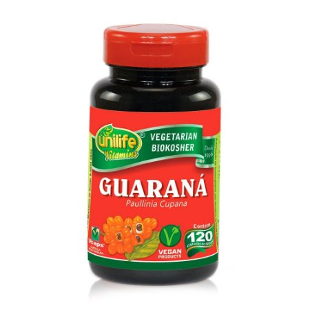 Guaraná 500mg 120 Cápsulas - Unilife