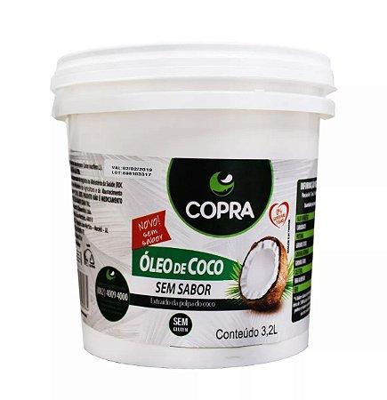 Óleo de Coco Sem Sabor Balde 3,2 Litros - Copra